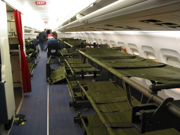 Ombyggd MD-80 med 36 bårplatser